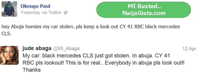 mi car stolen in abuja
