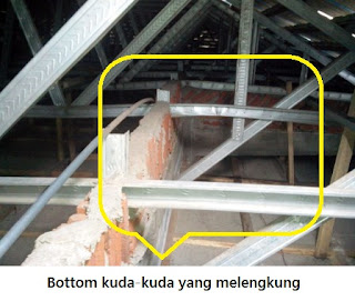 Kesalahan struktur rangka atap bajaringan galvalum 3