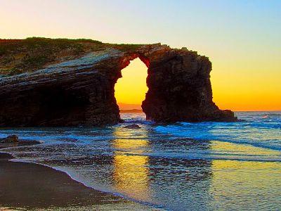 Playa de Ribadeo. España