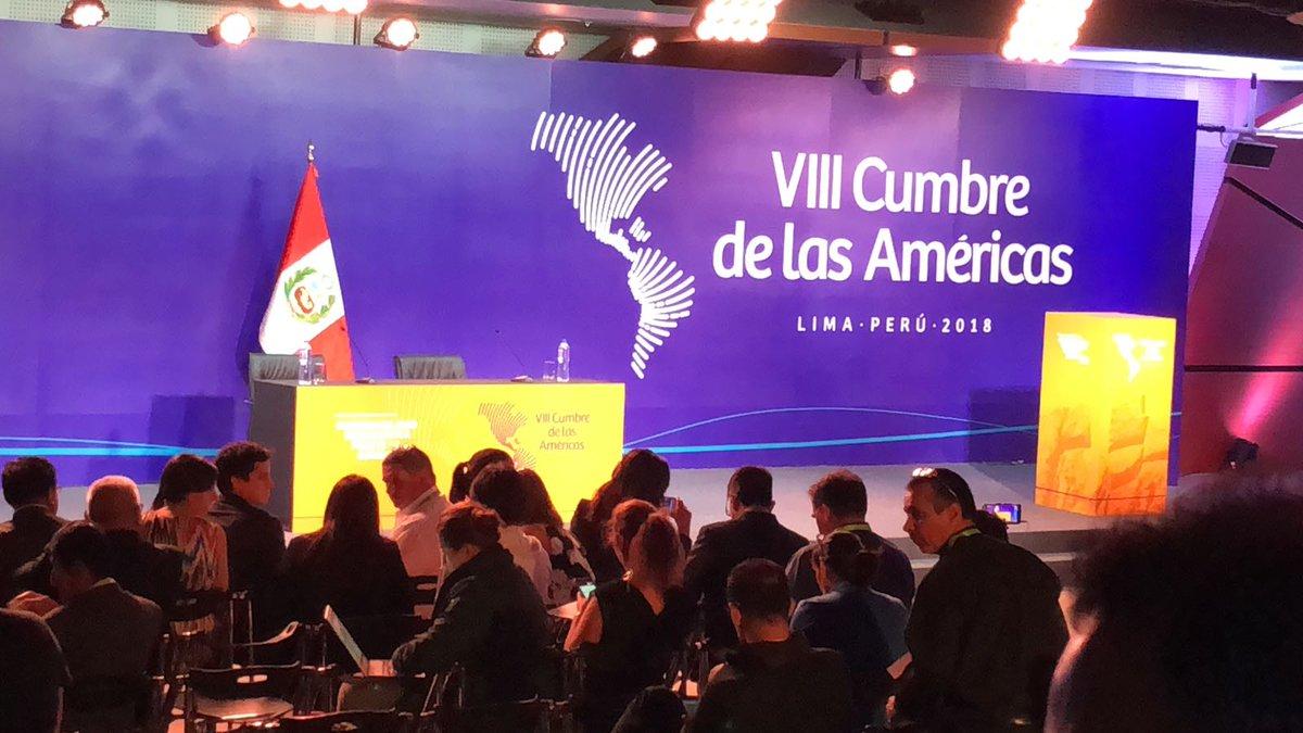 La Cumbre de Las Américas abordó temas de gobernabilidad y anticorrupción / TWITTER VOA