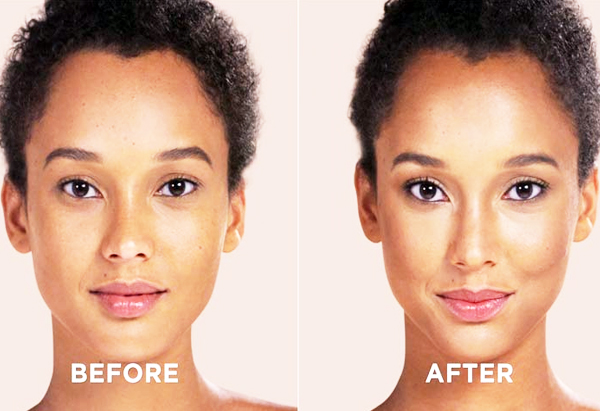 After-Before End Result (Contouring For Oval And Oblong Face) Beauty & Styles #MakeUpArts