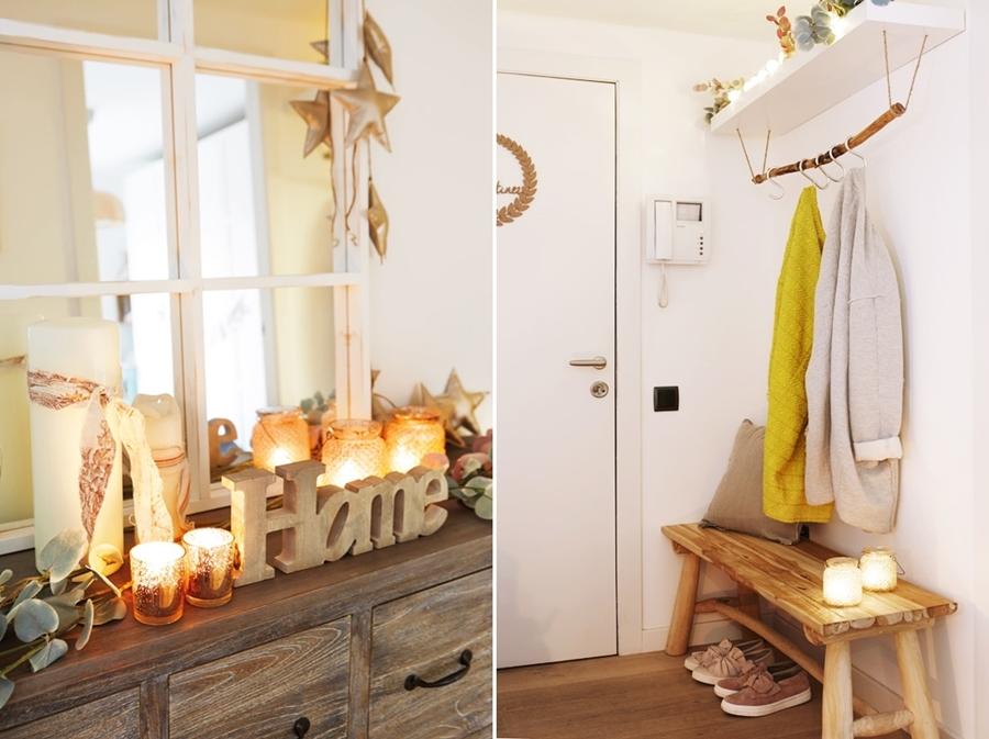Święta po skandynawsku w pastelowych kolorach, wystrój wnętrz, wnętrza, urządzanie mieszkania, dom, home decor, dekoracje, aranżacje, styl skandynawski, pastele, scandinavian style, pastelowe dodatki. Boże Narodzenie, Christmas, Święta, choinka, przedpokój