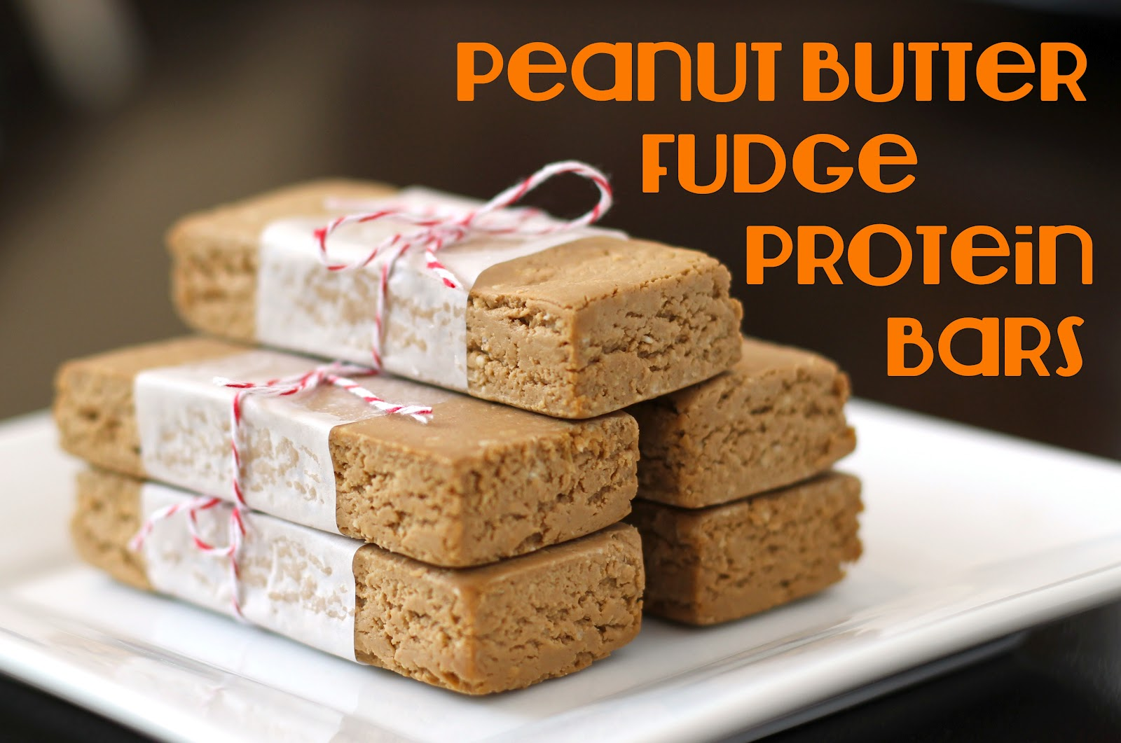 Healthy Homemade Peanut Butter Fudge Protein Bars