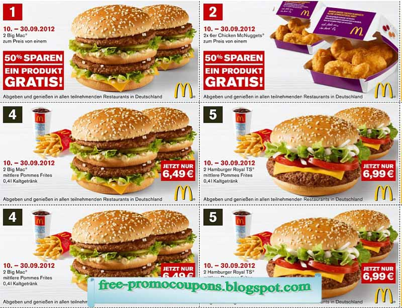 Coupons mcdonalds september 2019