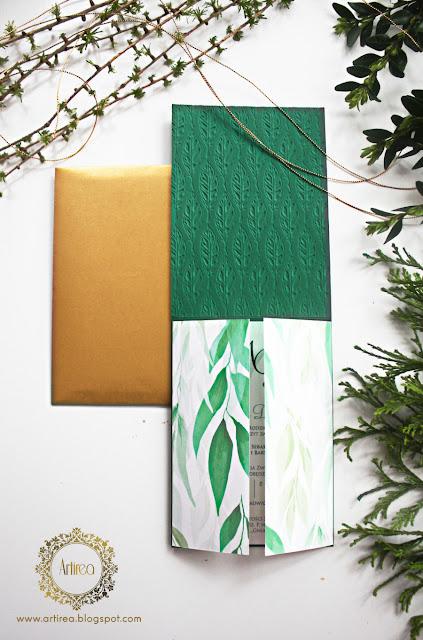 dodatki ślubne zielone