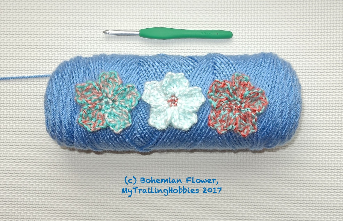 Cherry Blossom - an Easy 3D Flower Crochet Pattern