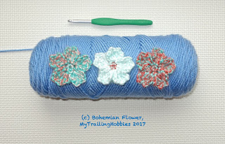 cherry blossom crochet pattern - (c) bohemian flower @mytrailinghobbies