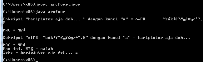 Java : Enkripsi SMS Menggunakan Message Authentication Code (MAC) Algoritma RC4