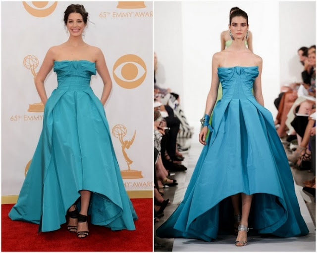 Jessica Pare in Oscar de la Renta – 2013 Emmy Awards