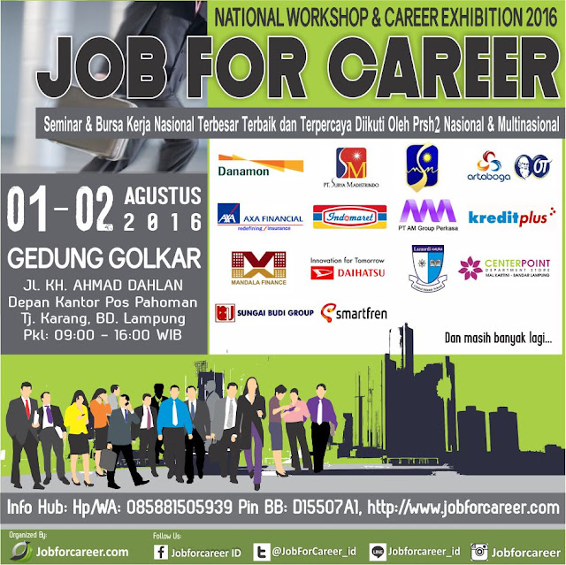 Job Fair Lampung : Job For Career 2016