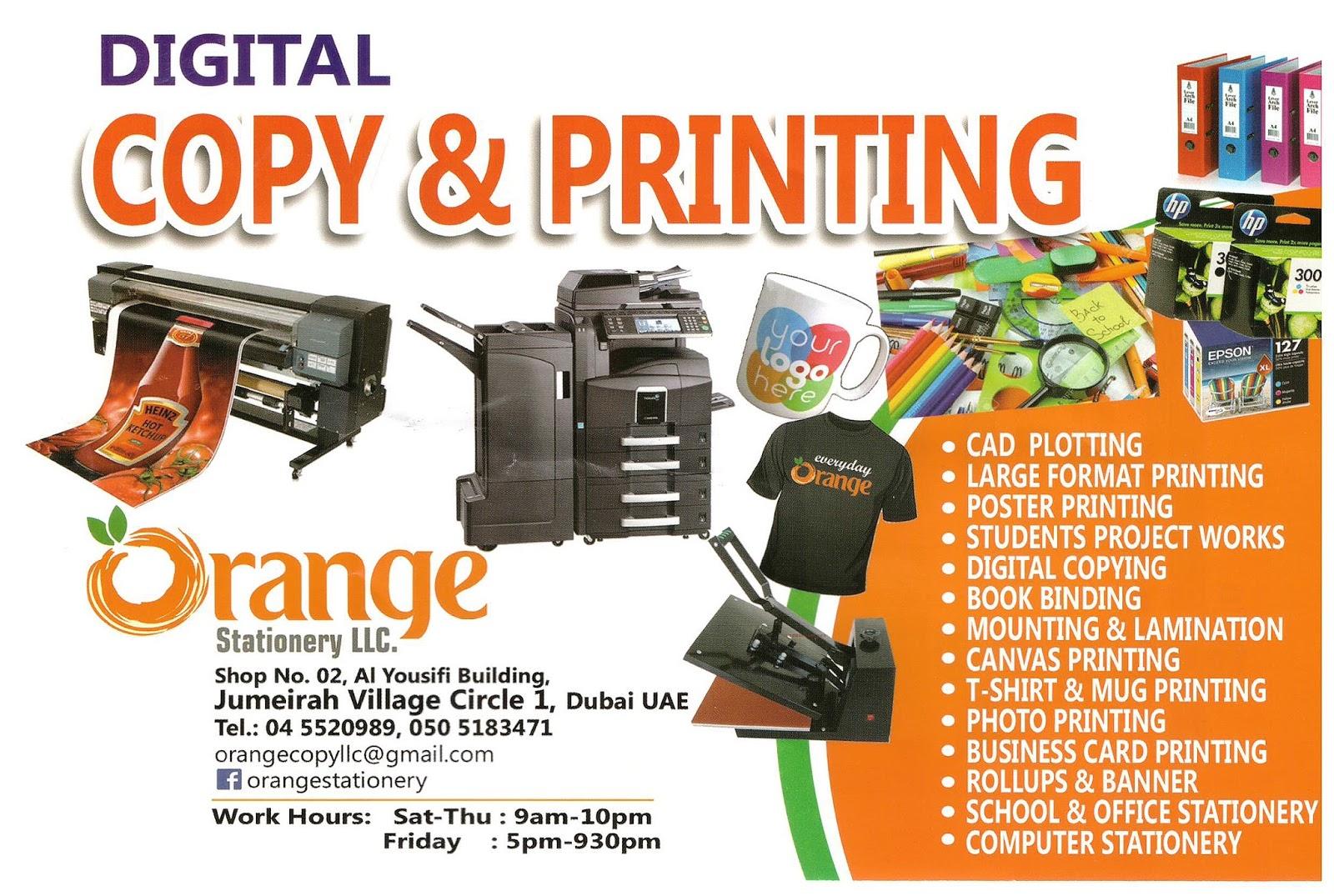 Jvc community jumeirah village circle dubai digital copy and digital copy and printing orange stationery reheart Images