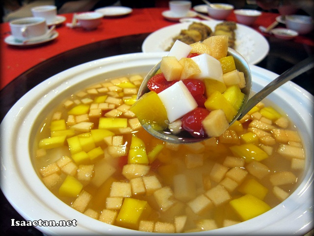 #8 Double Boiled Mix Fruit Sago and Almond Beancurd