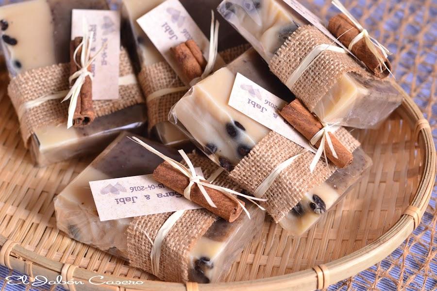 detalles para bodas jabones de cafe