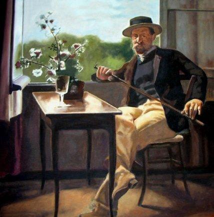 Retrato de George Pauli - Hanna Pauli e algumas de suas pinturas ~ Sueca