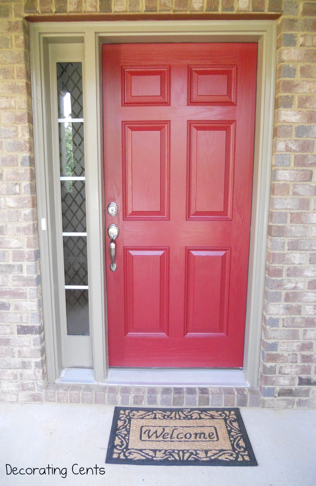 Decorating Cents: A Red Front Door