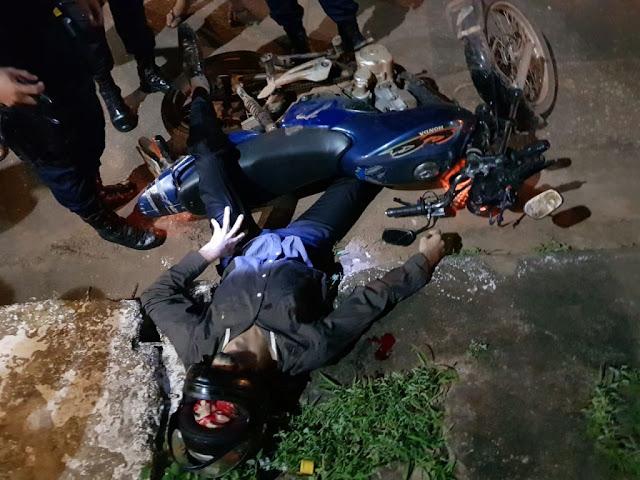 Criminoso de 19 anos tenta assaltar e acaba morto a tiros pela vítima que ainda prendeu o comparsa em Porto Velho