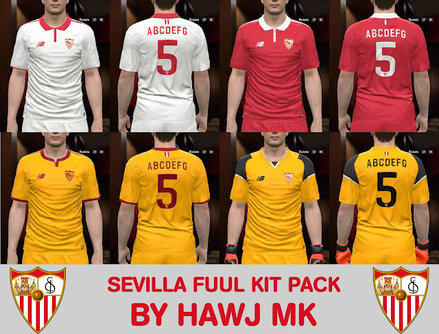 PES 2017 Sevilla Full Kit Pack by Hawj mk
