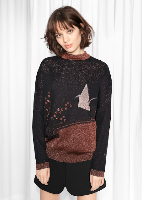 brown black glitter jumper