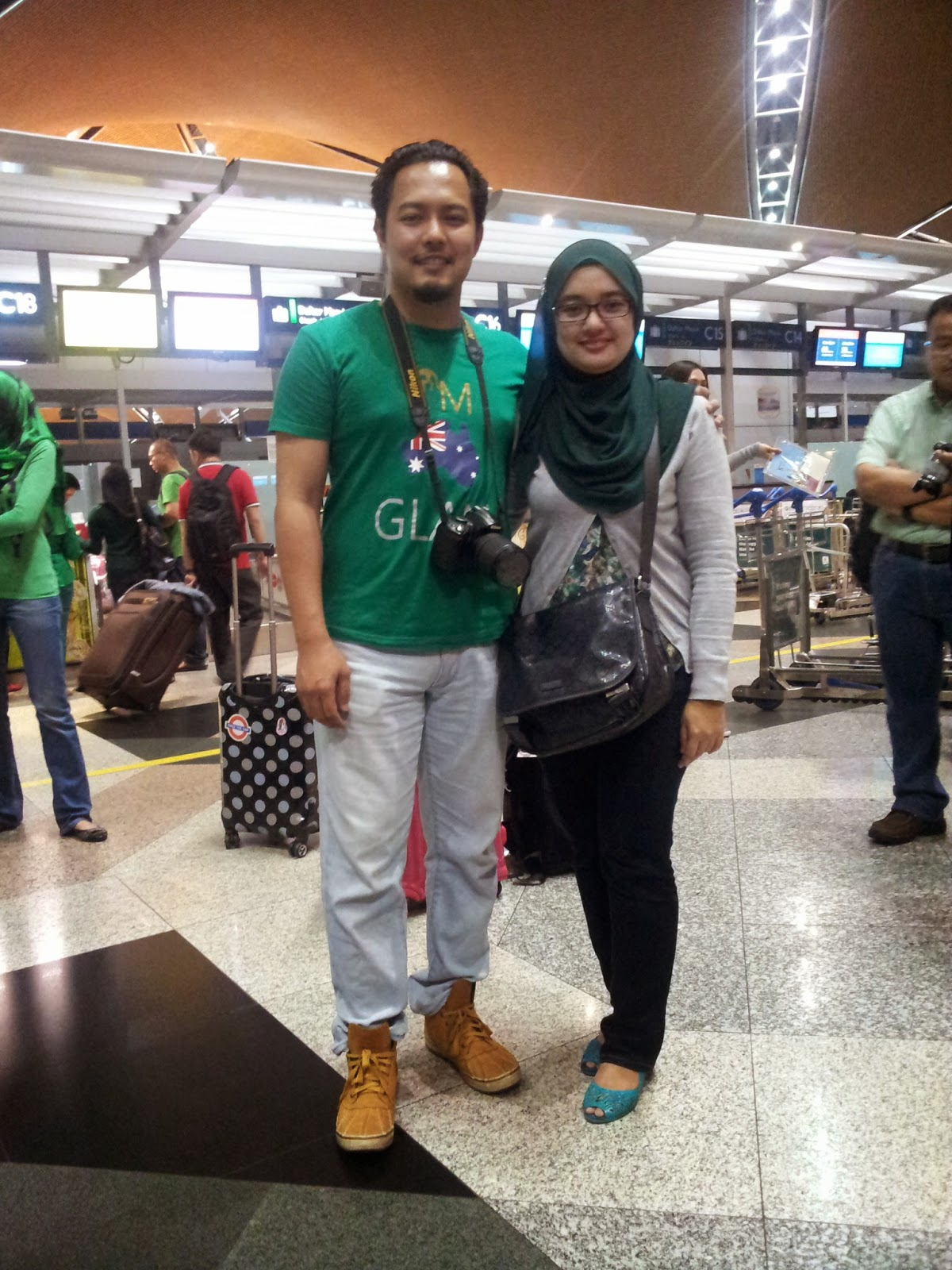 me with husband at KLIA, Sepang