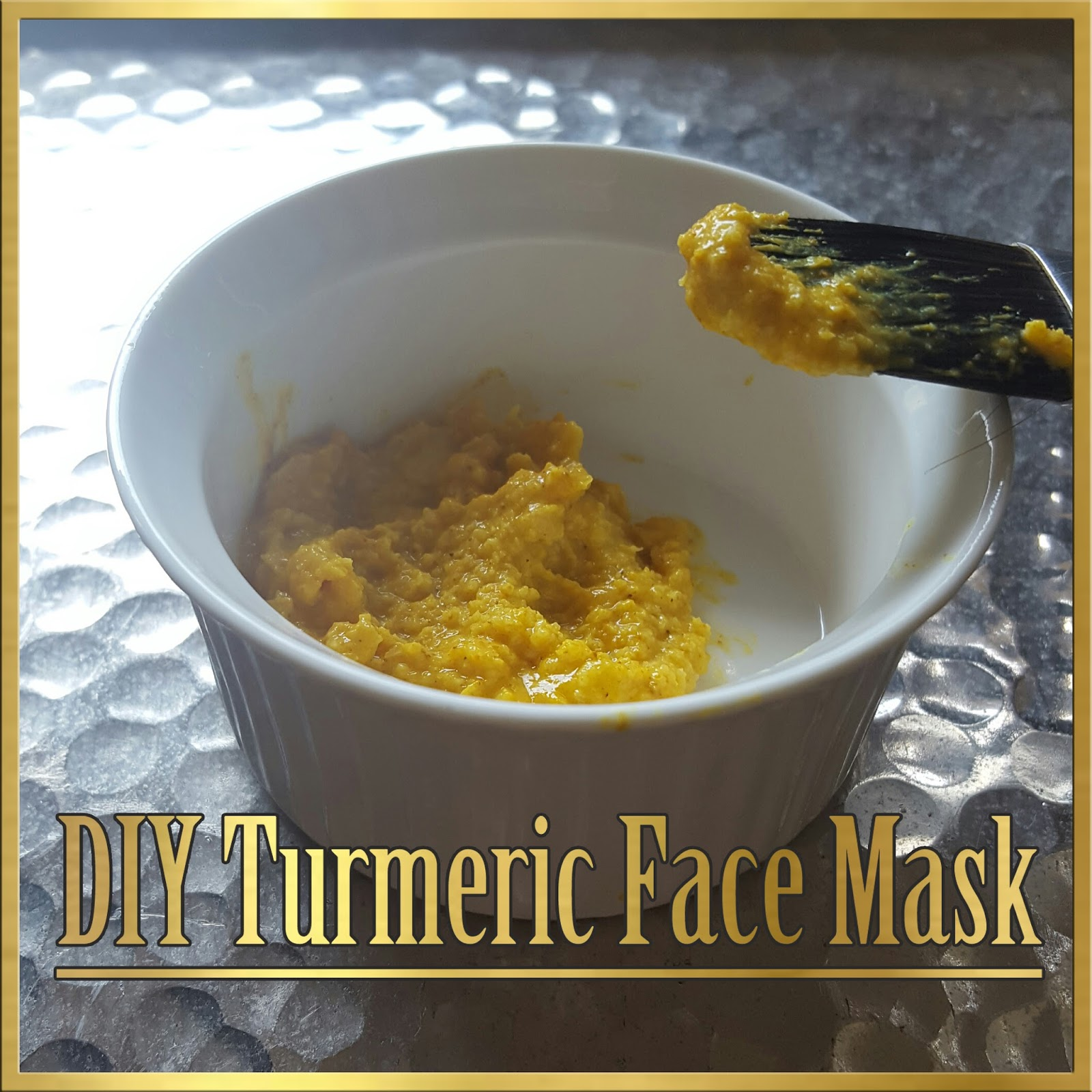 DIY turmeric face mask