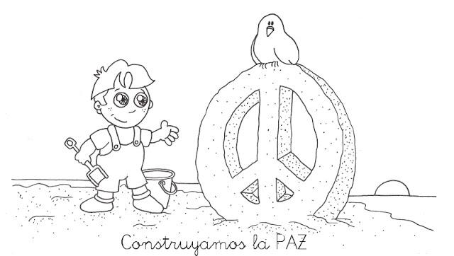 Día De La Paz Galería De Dibujos Y Carteles Niños Del: Dibujos Para Pintar Del Signo De La Paz