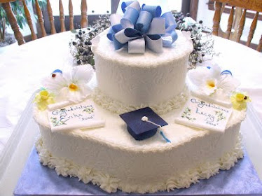 graduation butter cream imprint