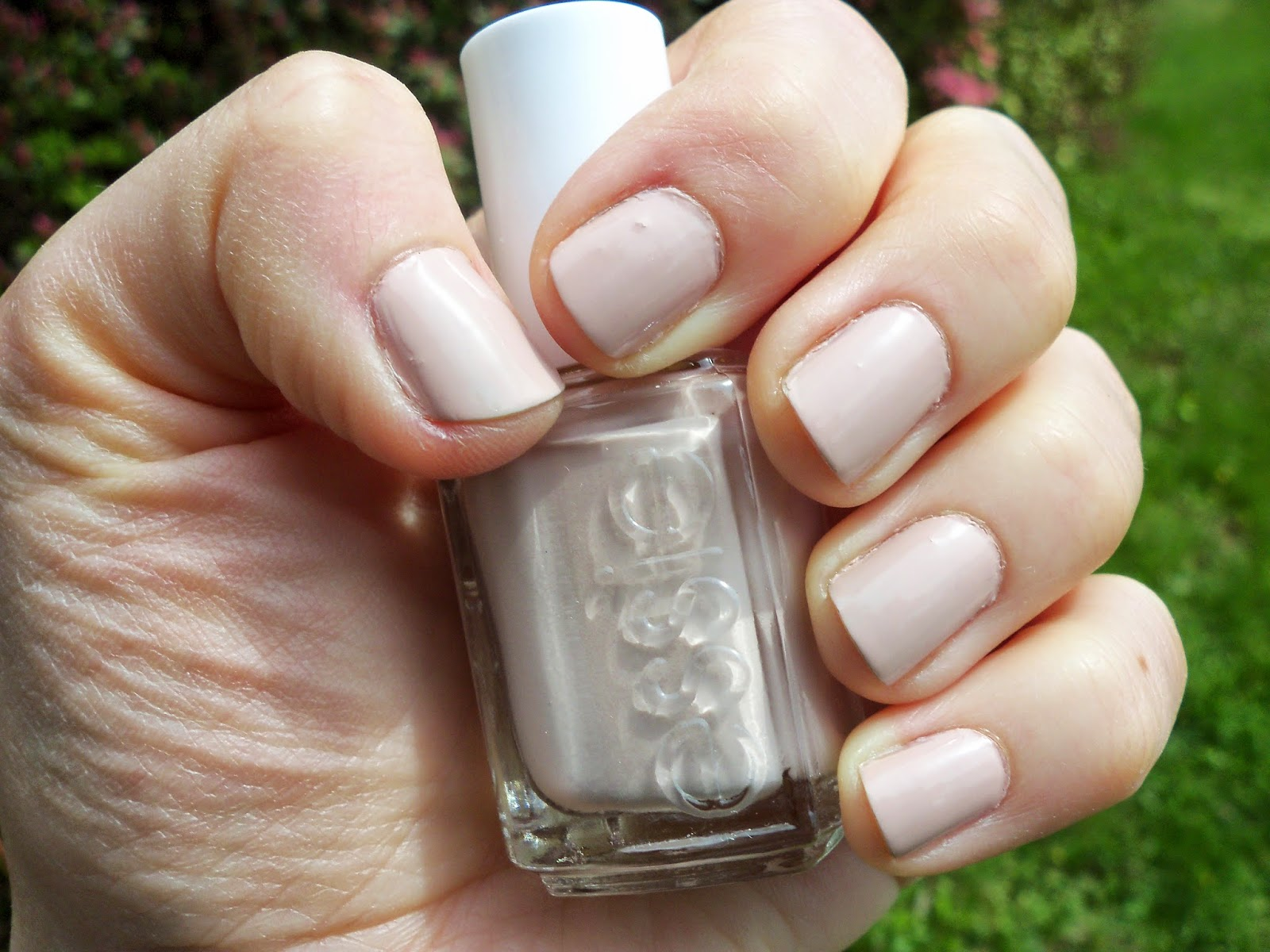 Essie topless and barefoot nail polish on my pedicure. I