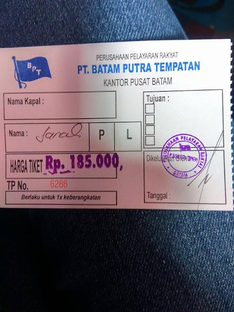Conter Tiket Pulau Benan