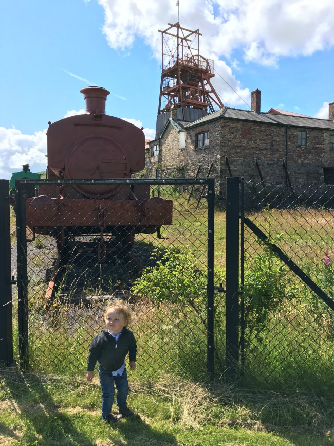 Blaenavon-Big-Pit-and-Ironworks-A-Toddler-Explores-train-and-big-pit