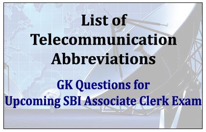 List of Telecommunication Abbreviations