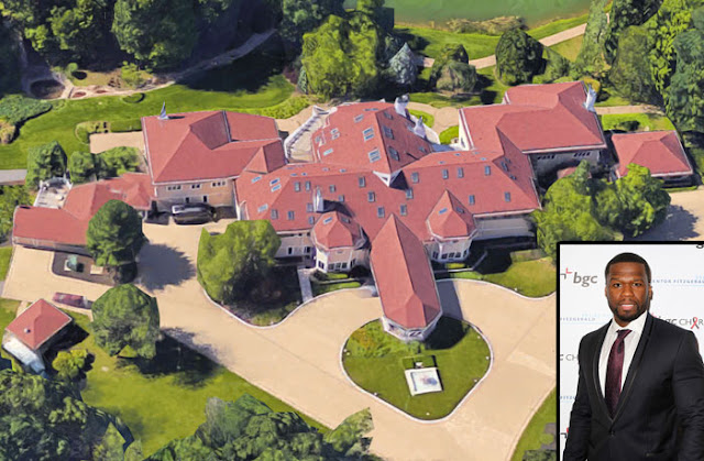 Stella dimoko 50 cent 39 s 52 room mansion sold for House in 2 cent