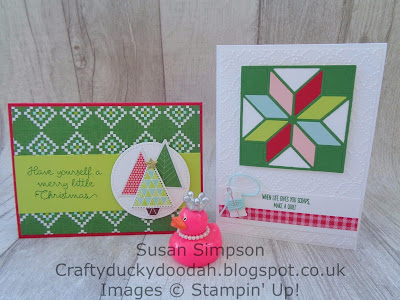 Stampin' Up! UK Independent  Demonstrator Susan Simpson, Craftyduckydoodah!, Christmas Quilt, September 2017 Coffee & Cards Project, Supplies available 24/7 from my online store,