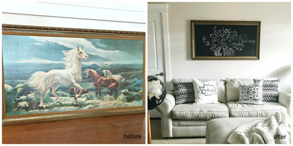 horse painting goodwill outlet upcycle