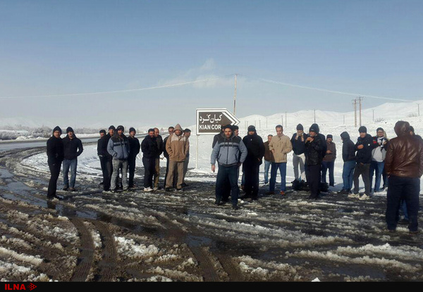 تجمع اعتراضی جمعی از کارگران کارخانه کیان کرد در شهرستان ملایر