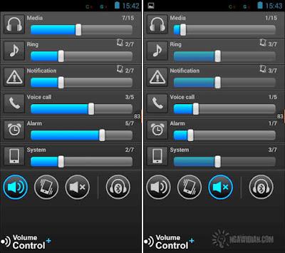 Mengatur Suara Android Dengan Volume Control+