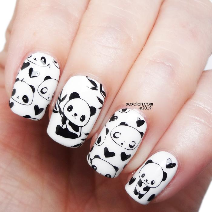 xoxoJen's swatch of kbshimmer panda nailart