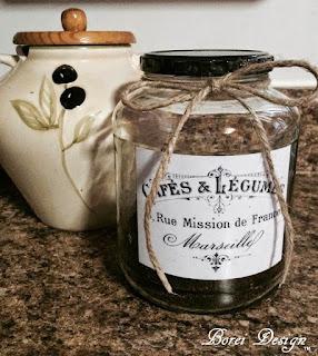 diy upcycled pickle jar french coffee storage craft