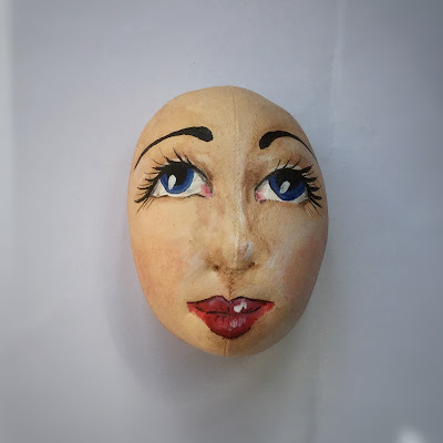 Painted art doll head