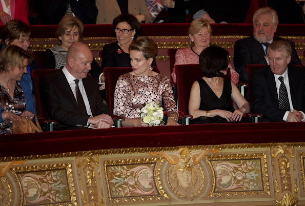 Queen Mathilde attended a performance of