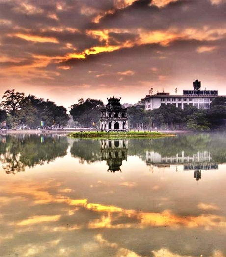 sunrise in Hanoi