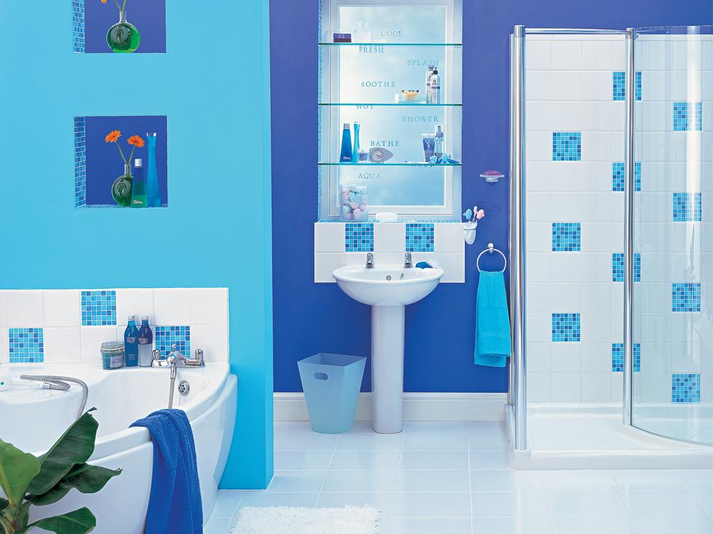 50 Gambar Kamar Mandi Sederhana Warna Cat Biru Pekanbaru Interior