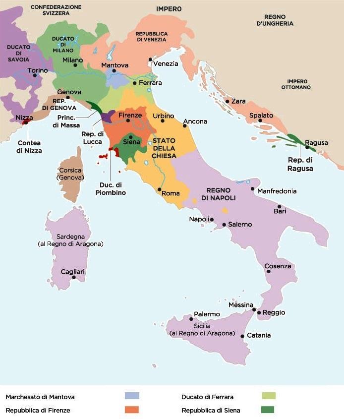 Cartina Dellitalia Nel 400.Imparare Con La Storia 37 L Italia Delle Signorie