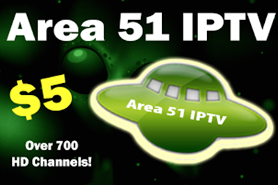 Area 51 IPTV, TV streaming service, TV, home, HD channels, Kodi add-on