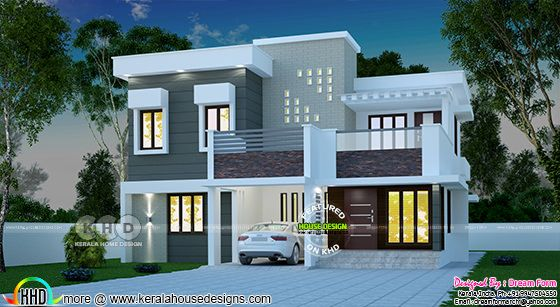 Gorgeous 3 bedroom modern Kerala home 2332 sq-ft