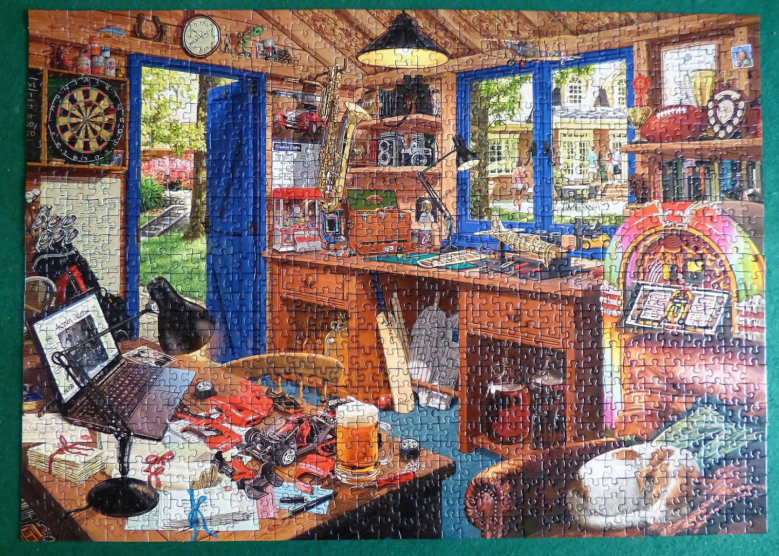 chez maximka my haven the man cave 1000 piece jigsaw. Black Bedroom Furniture Sets. Home Design Ideas