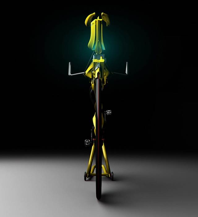 pandangan depan basikal