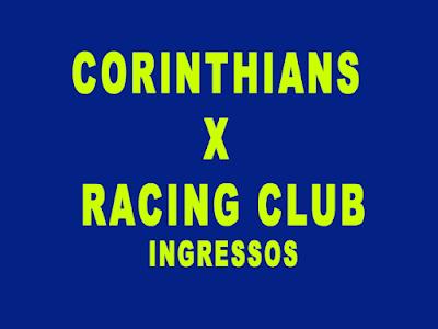 Corinthians x Racing timão abre venda de ingressos