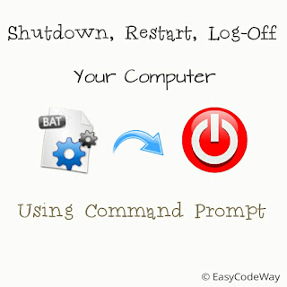 Shutdown your computer using command prompt and batch program