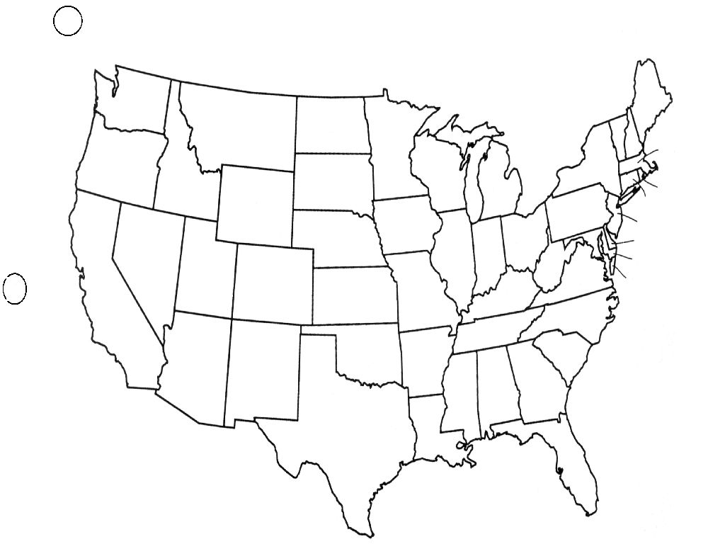 map outline of united states