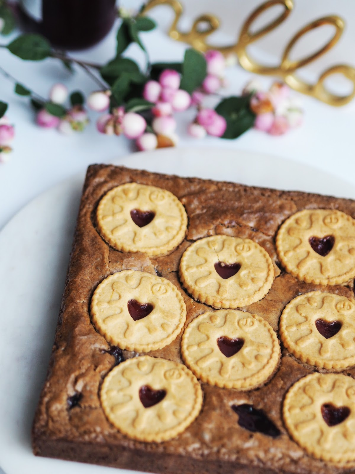 Recipe | Jammie Dodger Brownies Berries Hello